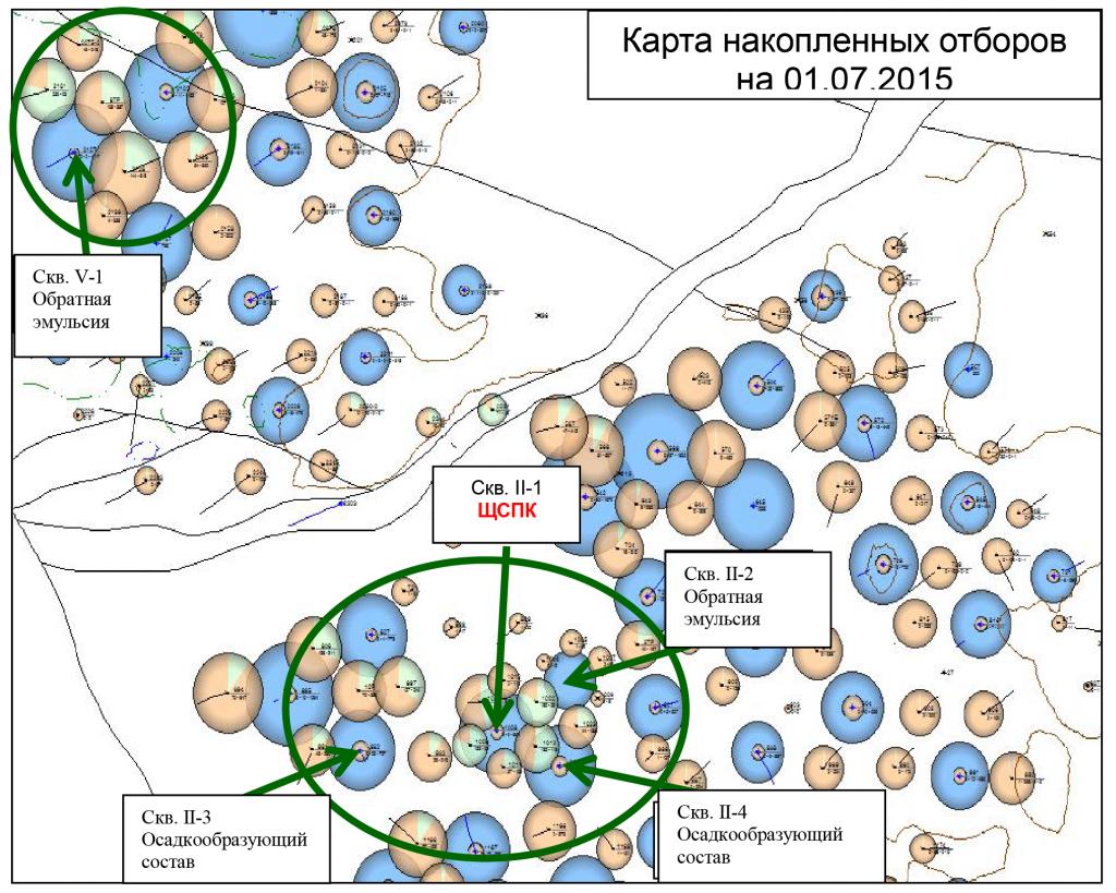 Карта положения скважин-кандидатов